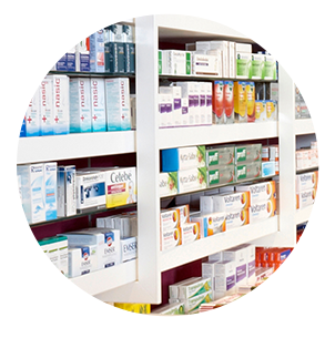 Medications on shelf